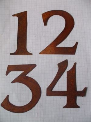 !0 cm Rusty Tin Numbers